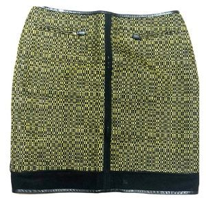 M by Missoni Yellow and Black Mini Skirt SZ 42.
